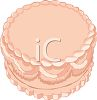 Decorated Pink Wedding Cake clipart