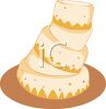 Crooked Tiered Cake with Frosting clipart