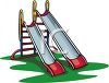 Playground Toys-Double Slide with Two Sizes clipart