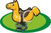 Playground Toys-Spring Horse clipart