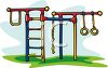 Playground Toys-Jungle Gym with Monkey Bars clipart
