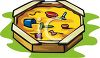 Playground Toys-Sandbox with Seats and Toys clipart