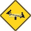 Yellow Sign for a Playground clipart