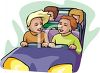 Teens Riding a Roller Coaster clipart