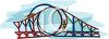 Double Loop Roller Coaster clipart