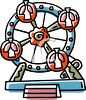 Cartoon Ferris Wheel clipart