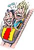 Screaming People on a Roller Coaster clipart