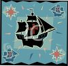 Transportation Icon Design=Clipper Pirate Ship clipart