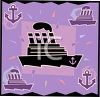 Transportation Icon Design-Cruise Ship clipart