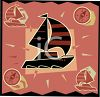Transportation Icon Design-Sailboat clipart