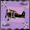 Transportation Icon Design-Bi Plane clipart