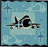 Transportation Icon Design-Passenger Jet clipart