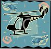 Transportation Icon Design-Helicopter clipart