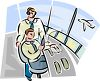 Air Traffic Controllers in the Tower clipart
