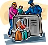 Luggage Going Through X-Ray clipart