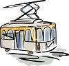 Drawing of a Tram clipart