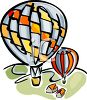 Drawing of Hot Air Balloons clipart