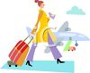 Young Woman Going to the Airport clipart