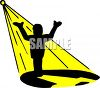 Performer Standing in a Spotlight clipart