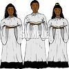 Black Kids in a Church Choir clipart