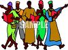 African People Singing clipart