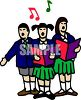 School Kids Singing clipart