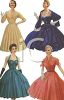 Vintage Women Wearing Evening Dresses clipart
