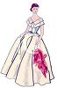 Vintage Woman Wearing a Prom Dress clipart