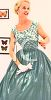 Vintage Fashion Evening Dress clipart