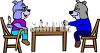 Dogs Playing Chess with One Cheating clipart