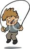 Cute Little Boy Jumping Rope clipart