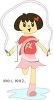 Anime Girl Jumping Rope clipart