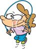 Cute Cartoon Girl Skipping Rope clipart