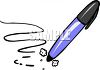 Cartoon Fat Permanent Marker clipart