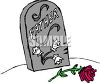Father's Grave Marker Headstone clipart