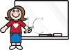 Teacher Standing at a Dry Erase Board clipart