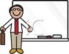 Male Teacher Standing at a Dry Erase Board clipart