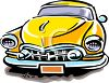 Vintage Cartoon Automobile clipart