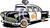 Retro Police Car Cartoon clipart