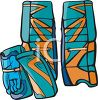 Goalie Gloves and Shin Guards clipart