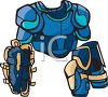 Goalie Chest and Arm Protectors clipart