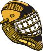 Goalie with Throat Guard clipart