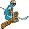 Hockey Goalie During a Play clipart