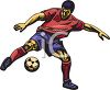 Realistic Style Ethnic Soccer Player clipart