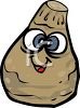 Celery Root Cartoon Character clipart