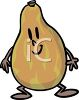 Papaya Cartoon Character clipart