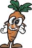 Carrot Cartoon Character clipart