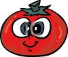 Tomato Cartoon Character clipart