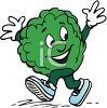 Lettuce Cartoon Character clipart