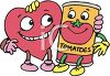 Heart Healthy Tomato Cartoon Characters clipart